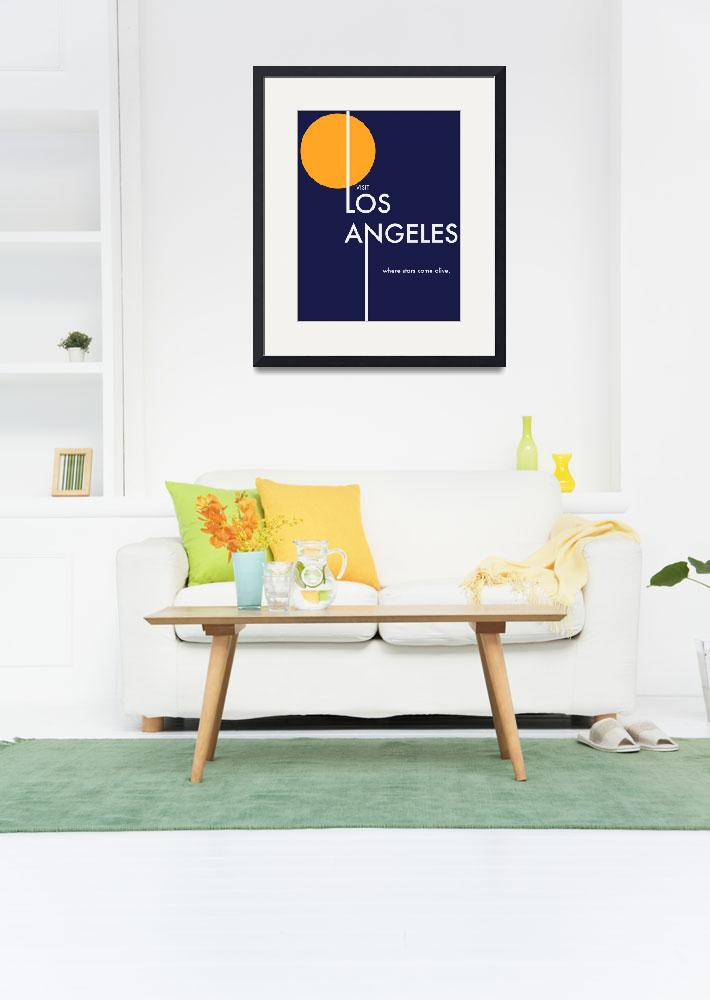 """Los Angeles Travel Poster&quot  (2009) by bradleyhuff"