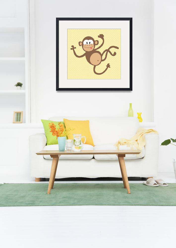 """Monkey (yellow)&quot  by littlebubbies"