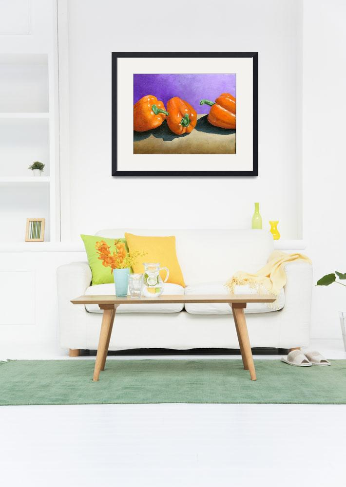 """Orange Peppers&quot  (2008) by AbbyCreekStudios"