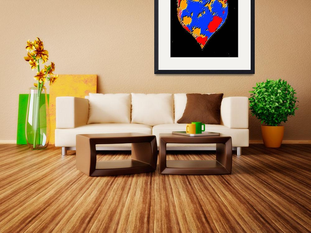 """Haitian Heart - 5&quot  (2010) by ousseau-arts-designs"