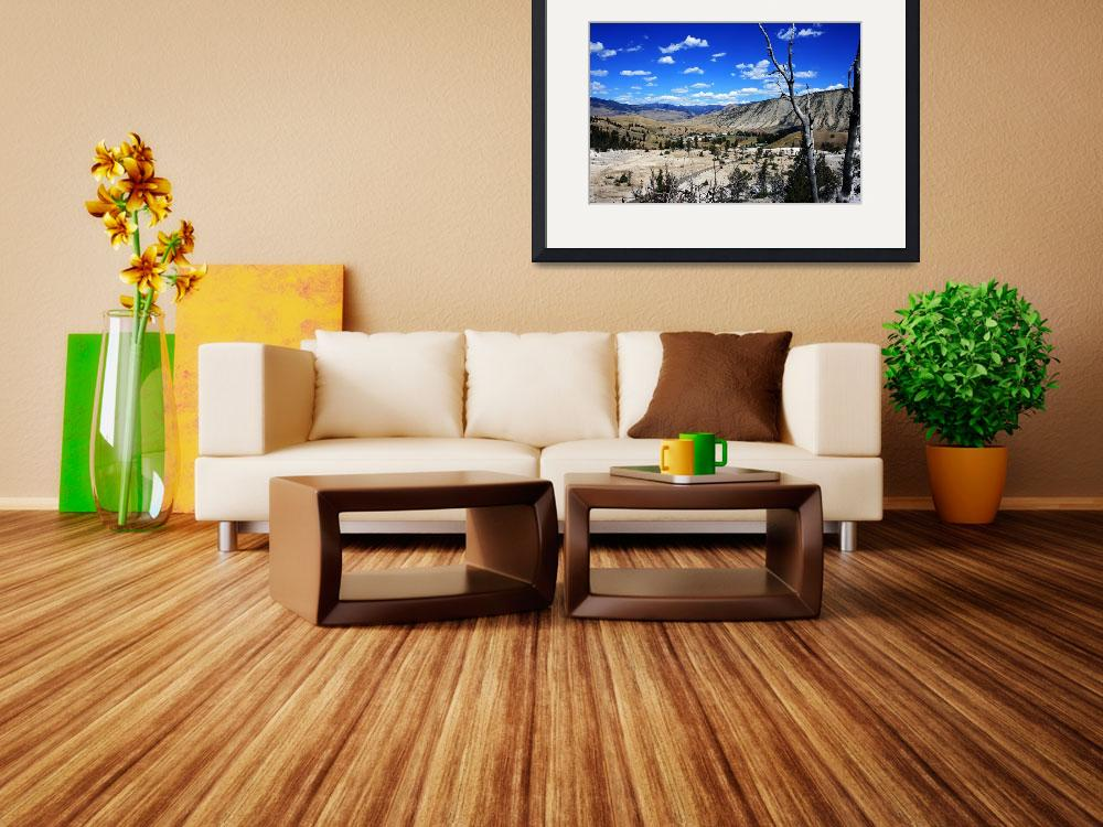 """A View of Mammoth Hotsprings&quot  by PhotosByKMT"