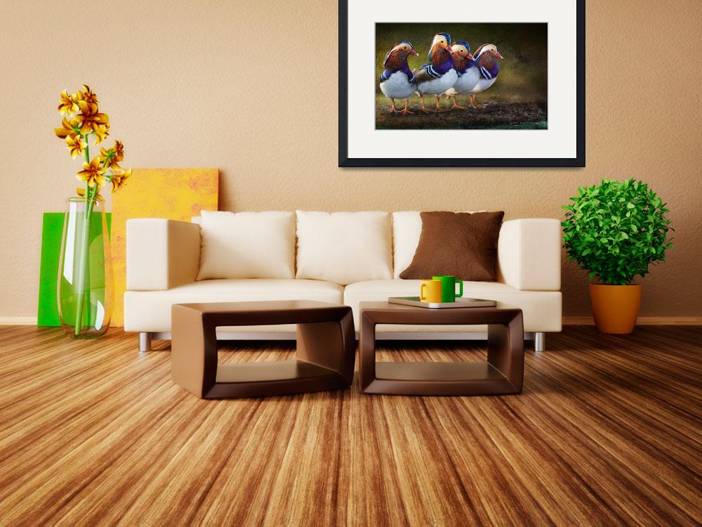 """four brothers mandarin ducks&quot  (2014) by rchristophervest"