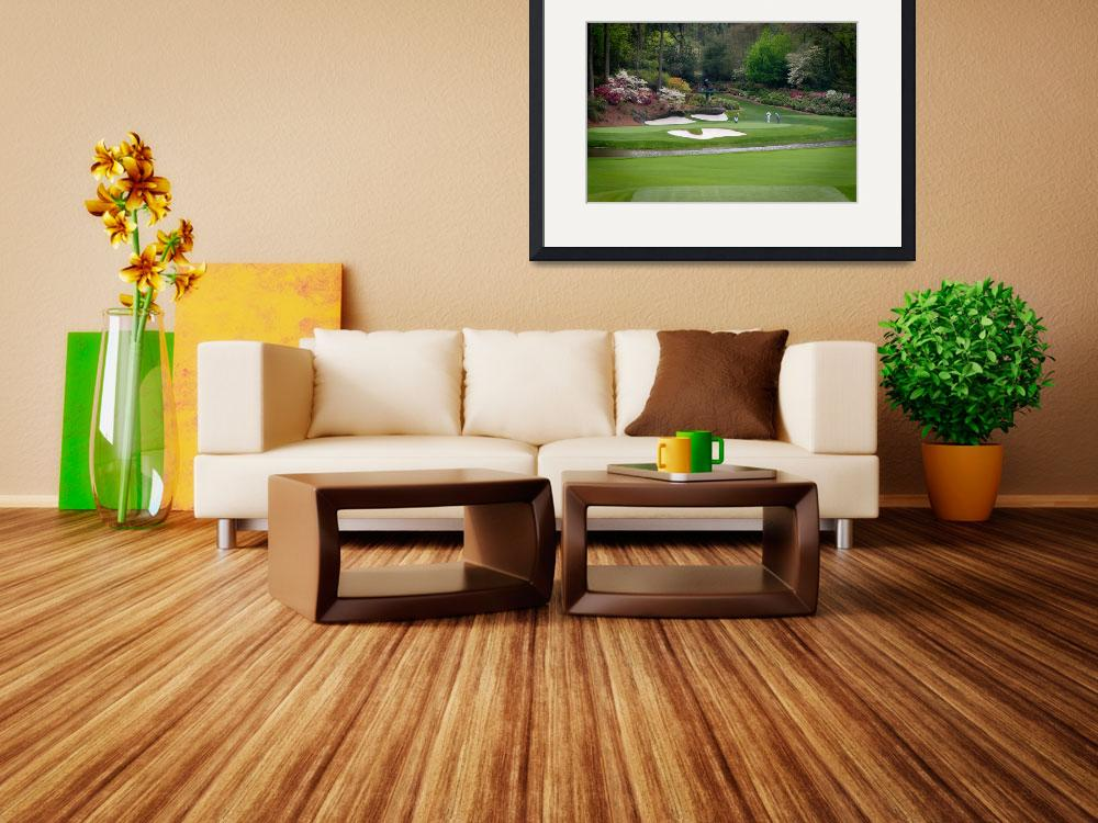"""Augusta Amen Corner Golf Picture Golfers PGA&quot  by AngelWingsArt"