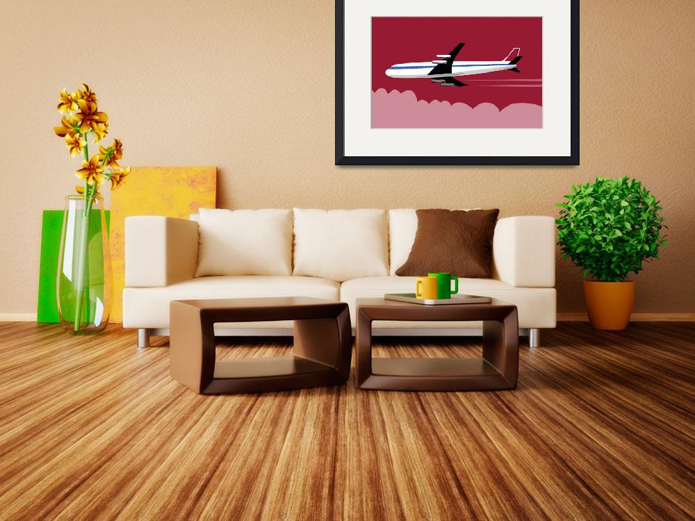 """Commercial Jet Plane Airline Retro&quot  by patrimonio"