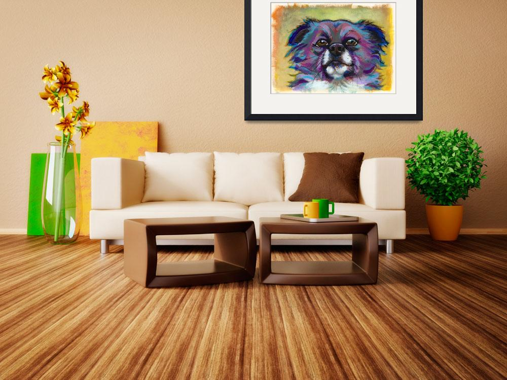 """The Optimist - fun chihuahua painting art portrait&quot  (2010) by FunUniqueArt"