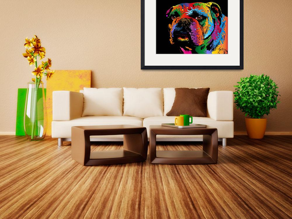 """Bulldog&quot  (2011) by ModernArtPrints"