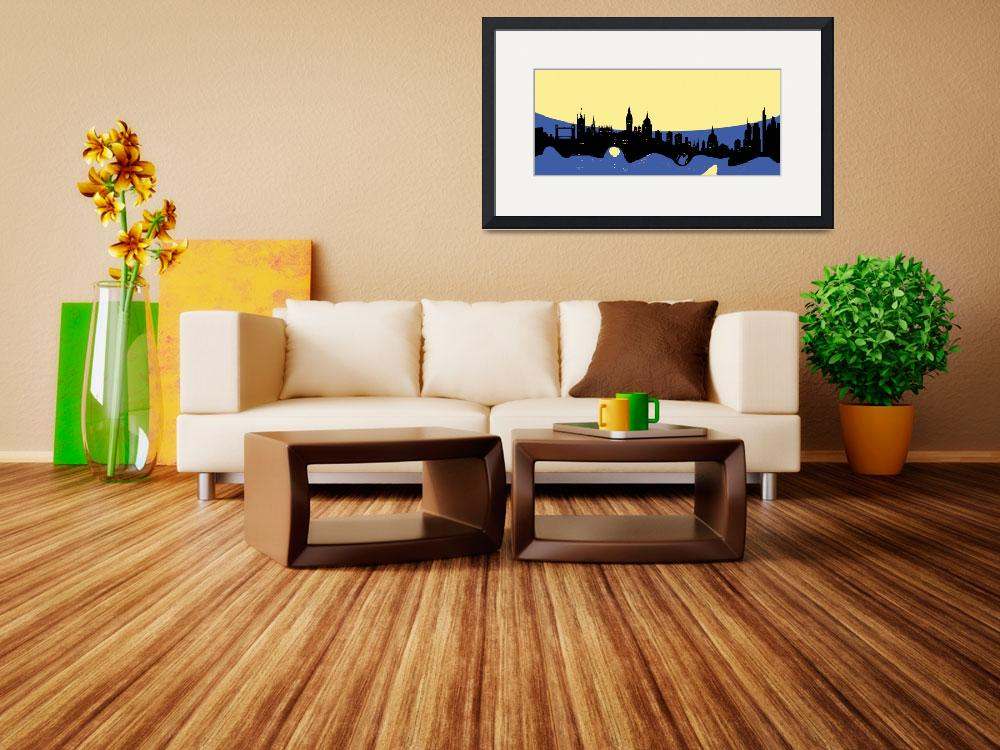 """London Skyline Retro Modern Decor&quot  (2014) by GinetteCallaway"