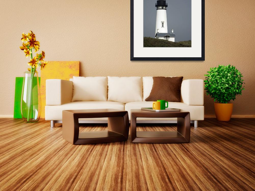 """Yaquina Head Lighthouse Active&quot  (2009) by ClotheslineArt"