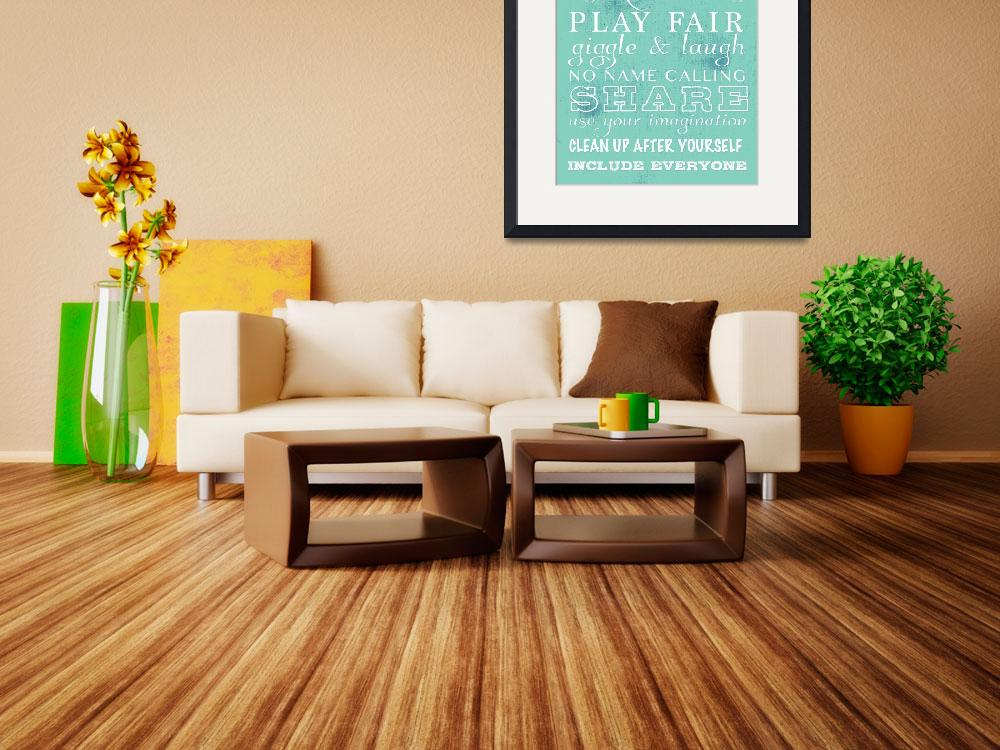 """playroomrules&quot  (2014) by aiwsolutions"