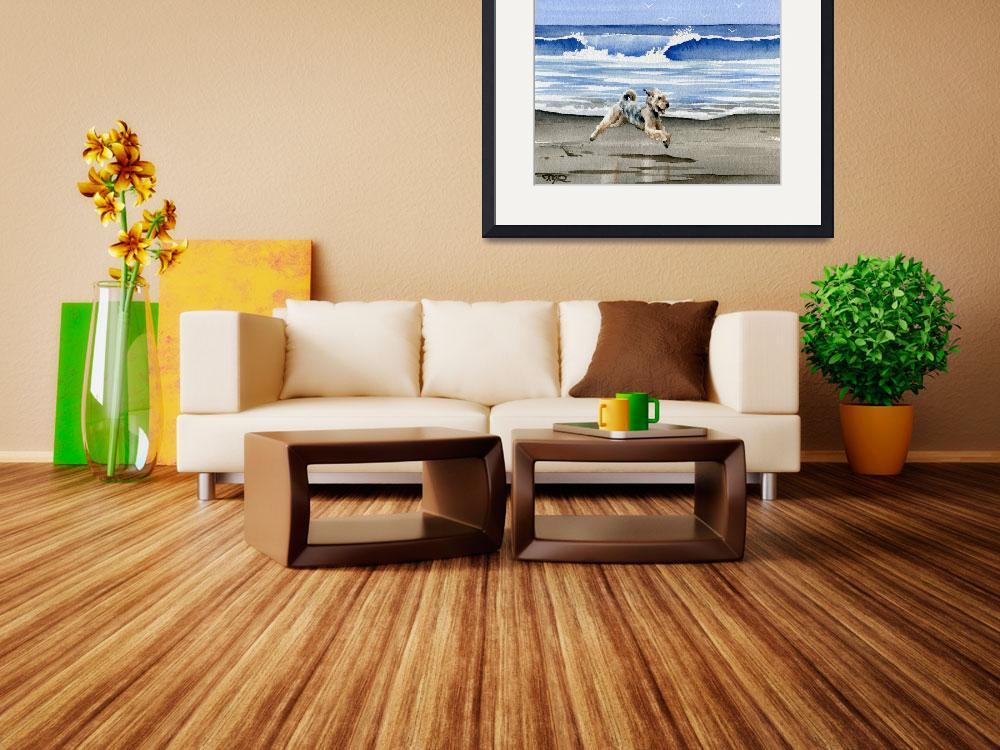 """Airedale Terrier Beach&quot  (2015) by k9artgallery"