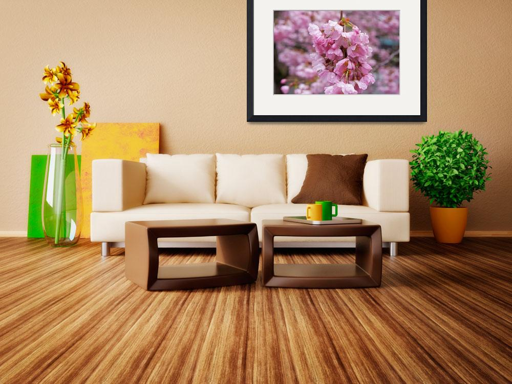 """Spring Tree Blossoms Pink Flowers Art Prints&quot  (2015) by BasleeTroutman"