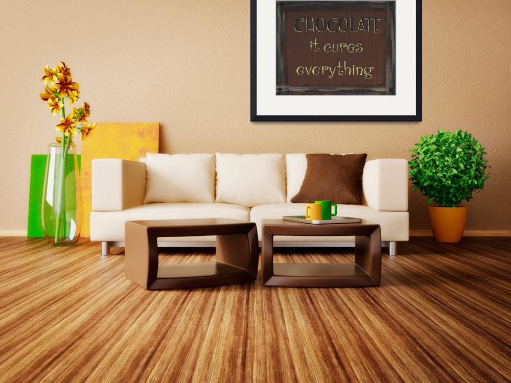"""Chocolate Sign (Dark Brown)&quot  (2013) by PjCreates"