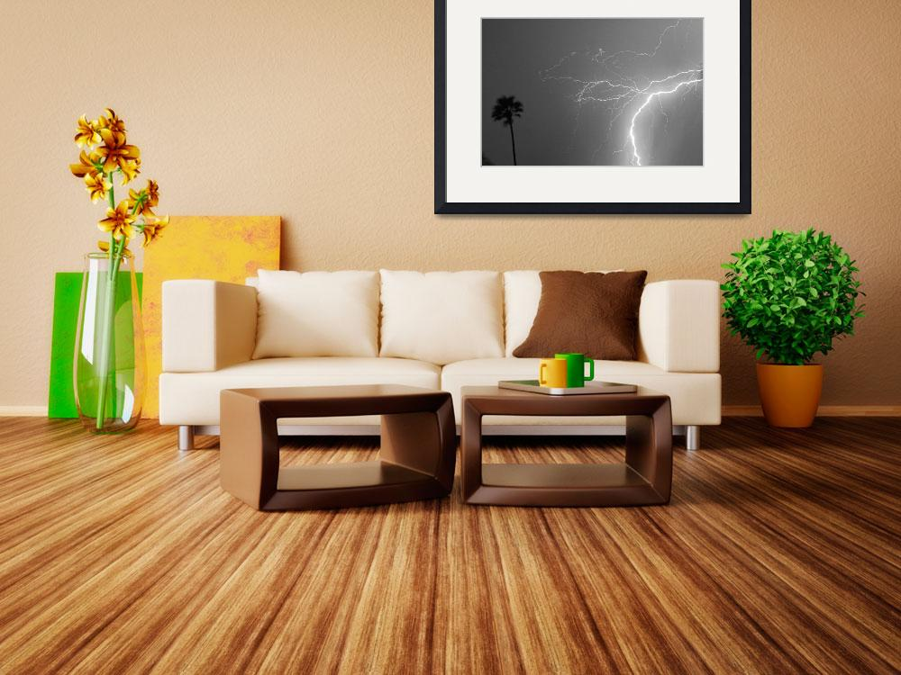 """Black and White Tropical Thunderstorm Night&quot  (2013) by lightningman"
