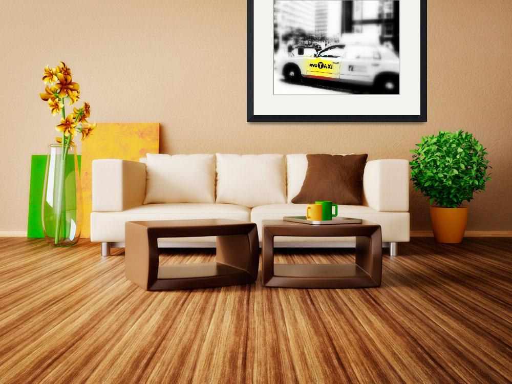 """NYC TAXI ON PARK AVENUE&quot  (2009) by Funkpix"