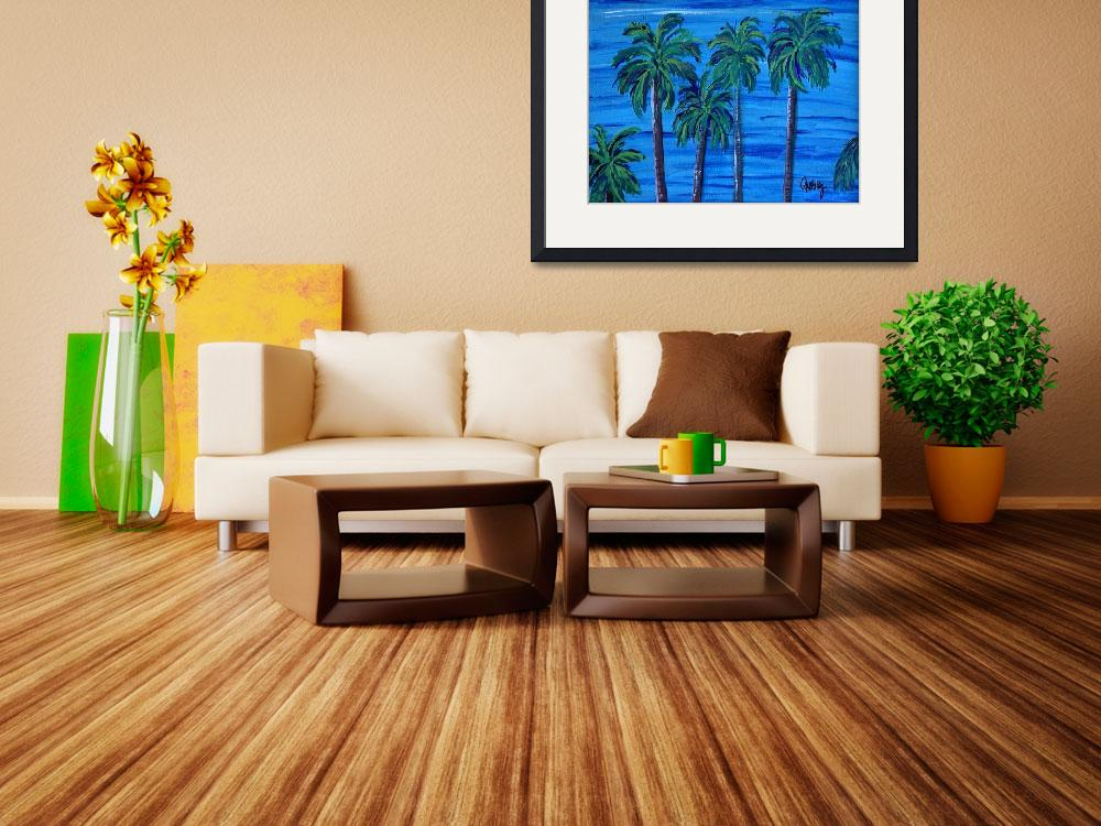 """Pacific Palms&quot  (2011) by paintingsbygretzky"