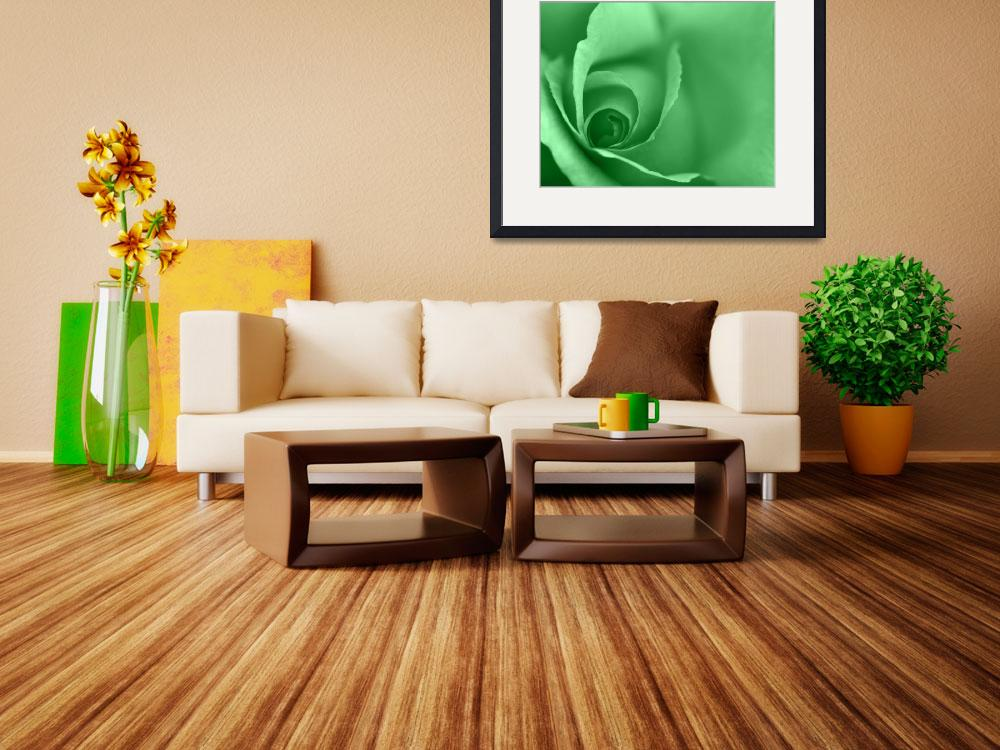 """Lime Green Coloured Floral Wall Art&quot  (2012) by NatalieKinnear"