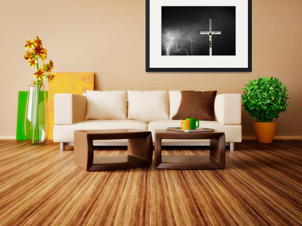 """Good Friday - Crucifixion of Jesus BW Color&quot  (2012) by lightningman"