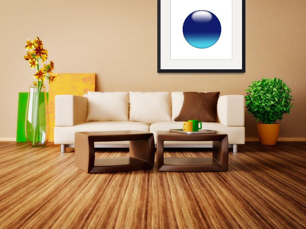 """Blue sphere on white background&quot  (2010) by Bayardo"