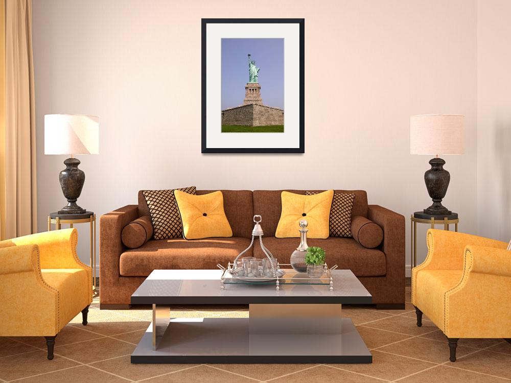 """Statue of Liberty and Pedestal&quot  (2003) by fineartphoto"