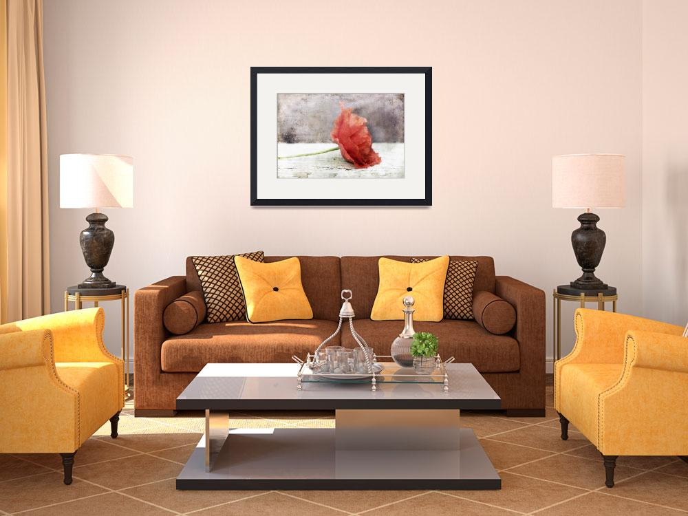 """Decor Poppy in red&quot  (2013) by Piri"
