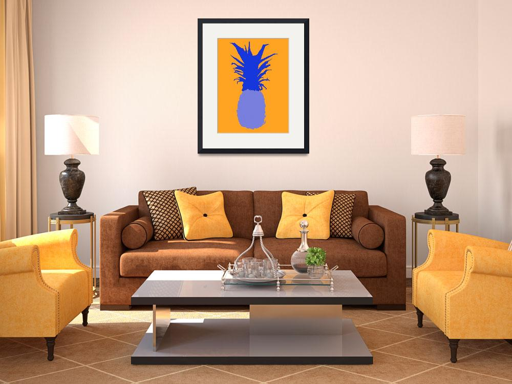 """Pineapple blue orange (c)&quot  (2014) by edmarion"