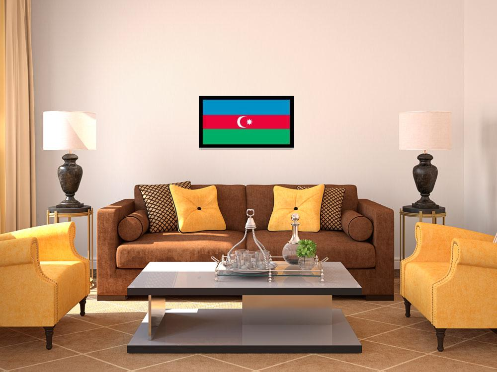 """Azerbaijan Flag&quot  by KWGart"