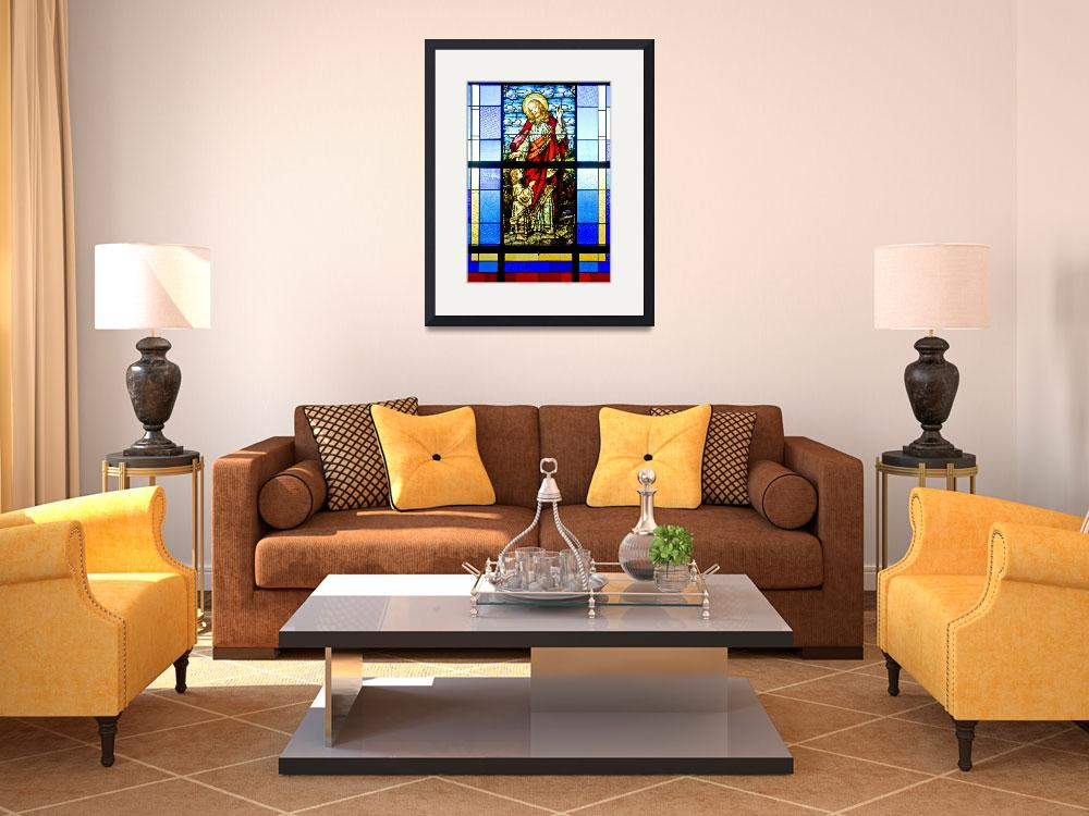 """Stained Glass Jesus&quot  (2010) by photocatphoto"