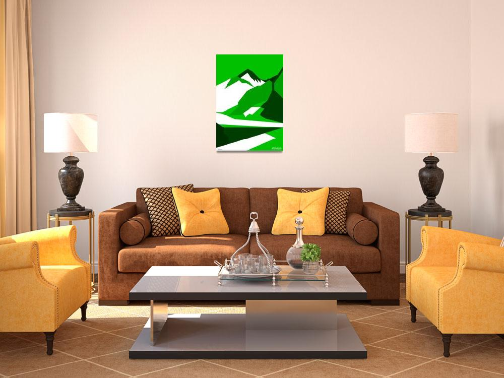 """Everest Green - Art Gallery Selection&quot  by Lonvig"