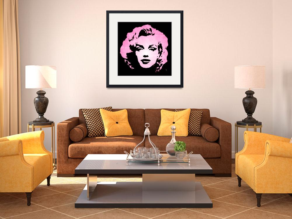 """Marilyn Monroe - Pink Brush Strokes&quot  (2013) by wcsmack"