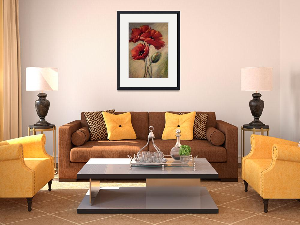"""Poppies & Bud&quot  (2008) by offthewallart"