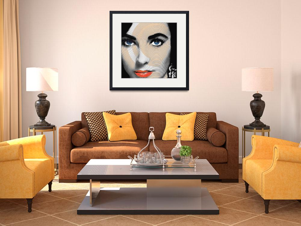 """Liz Taylor&quot  (2012) by RubinoFineArt"