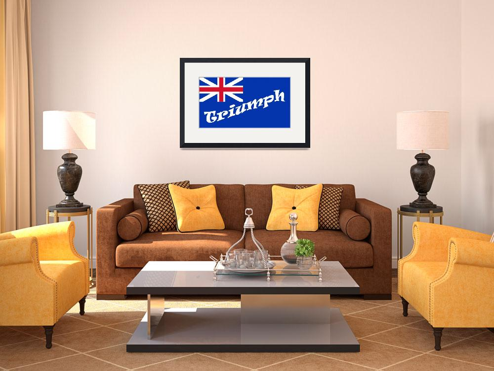 """British-Blue-Ensign-triumph-white.svg copy&quot  (2008) by bulldogblues"