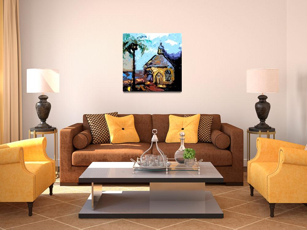 """Island Chapel Bahamas Original Art by Ginette&quot  (2012) by GinetteCallaway"