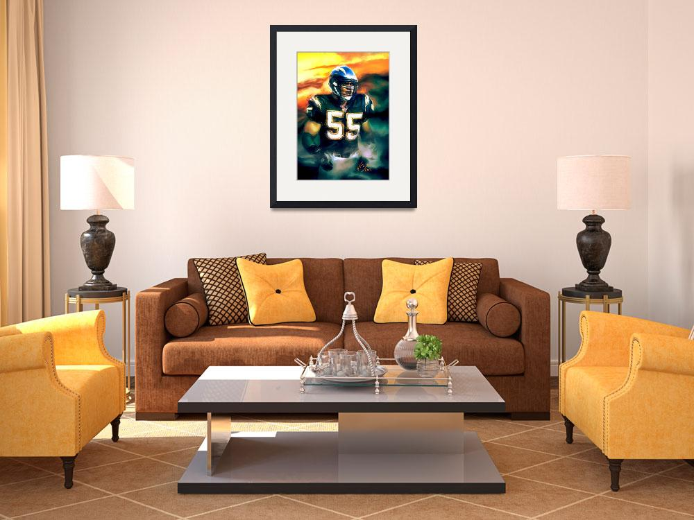"""Junior Seau NFL San Diego Chargers Art&quot  (2013) by artofvela"