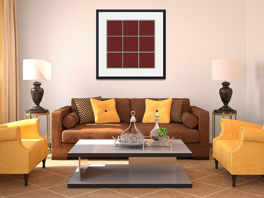"""Brown Window 125 Canvas Contemporary Modern&quot  (2010) by Ricardos"
