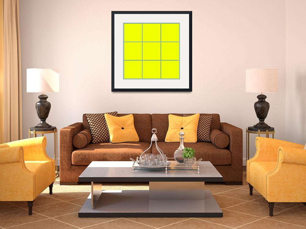 """Yellow Window 111 Canvas Contemporary Modern&quot  (2010) by Ricardos"