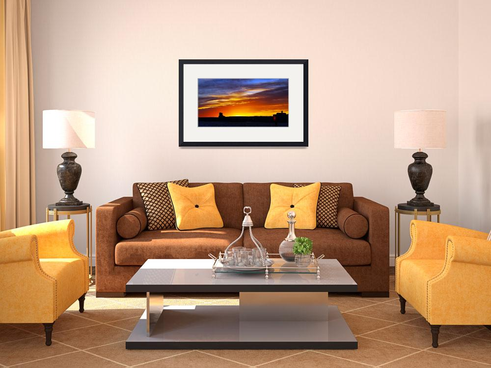 """Bay Sunset&quot  (2011) by LJdesigns"