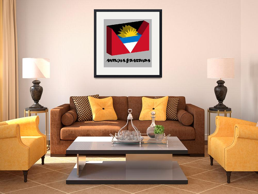 """antigua and barbuda 3d flag&quot  by robertosch"