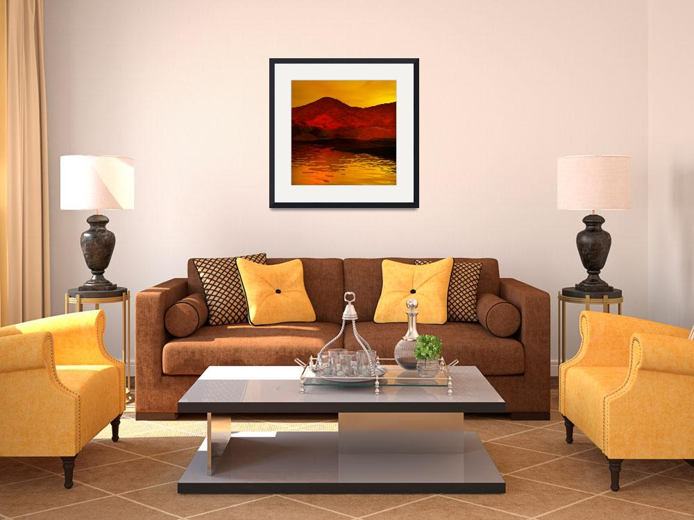 """Sunset in Orange&quot  (2009) by AnneVis"