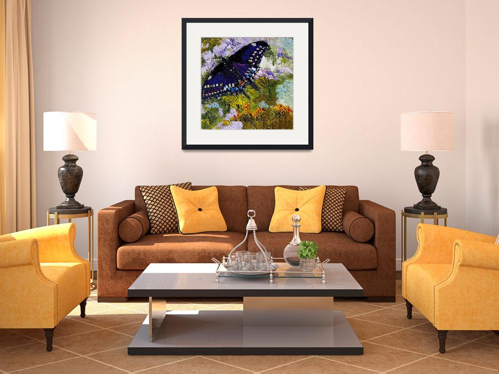 """Black Swallowtail Butterfly Oil Painting by Ginett&quot  (2011) by GinetteCallaway"