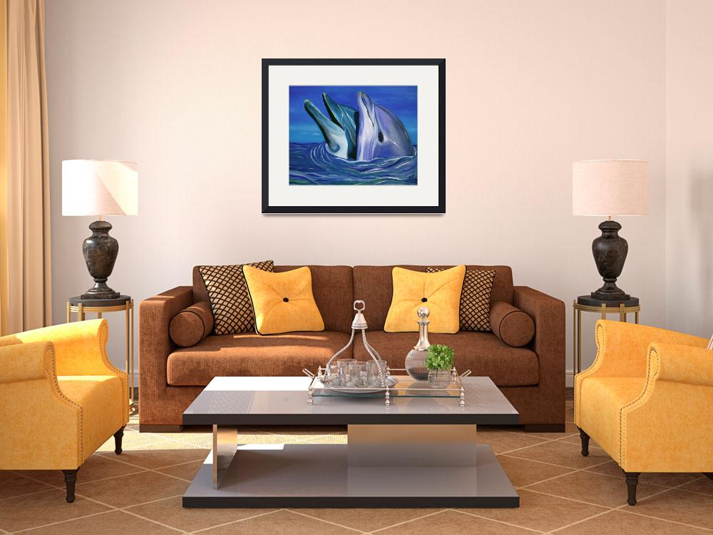 """Dolphin Dance&quot  (2006) by ArtPrints"