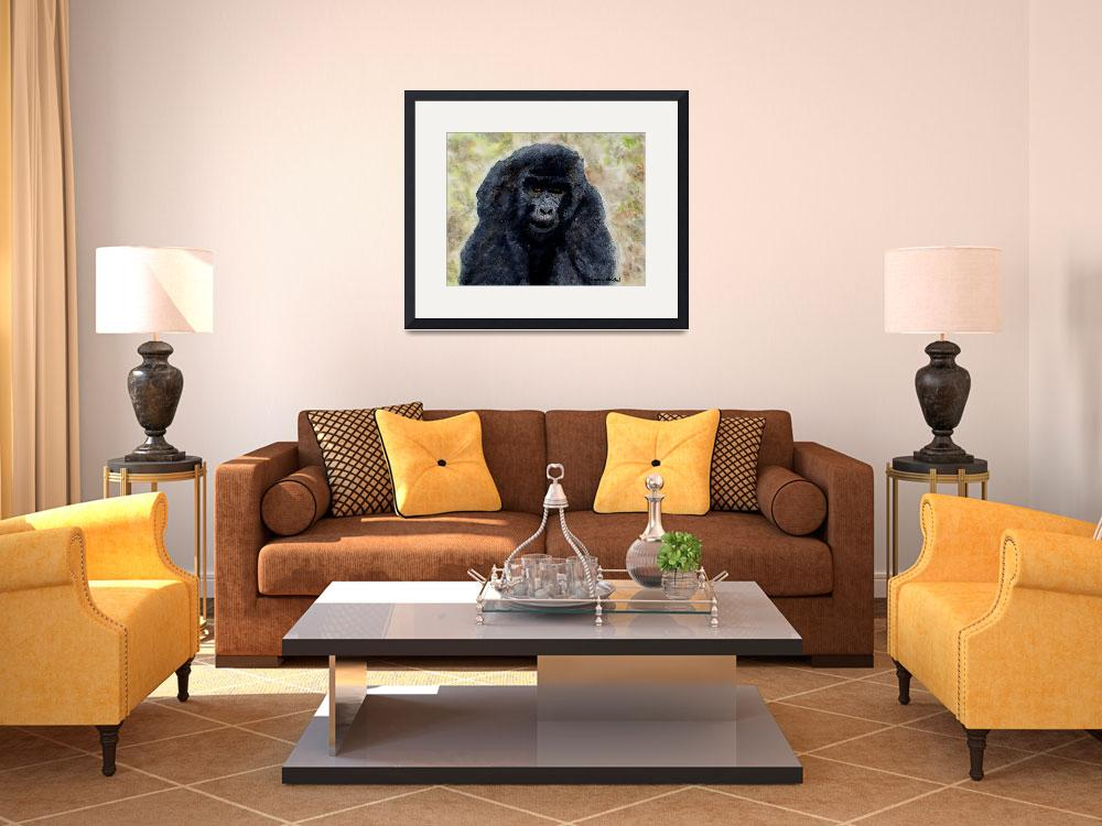 """Curious_Young_Male_Gorilla&quot  (2004) by DianaNadalFineArt"