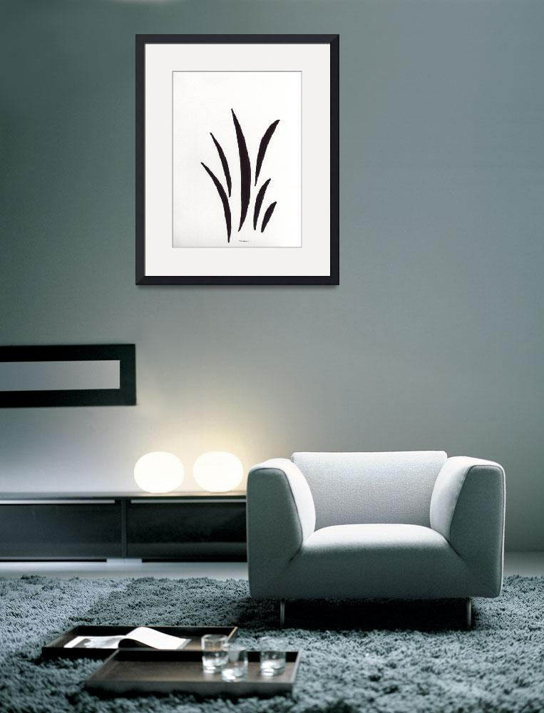 """Zen Sumi 1a Black Ink on White Watercolor Paper&quot  (2011) by Ricardos"
