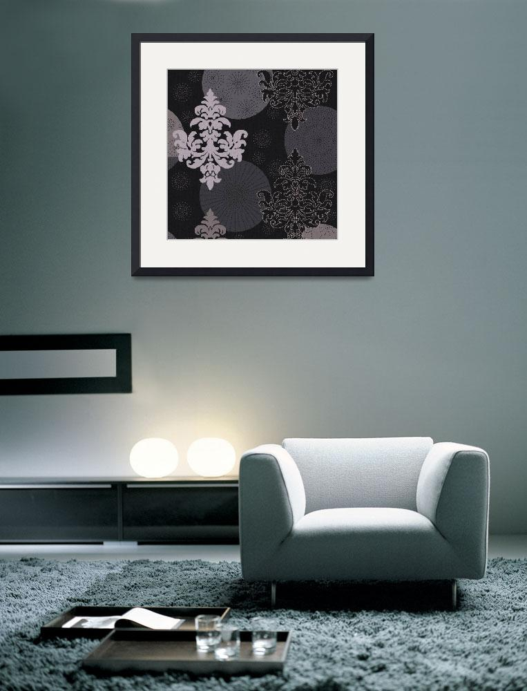 """black and white damask&quot  (2008) by da-design"