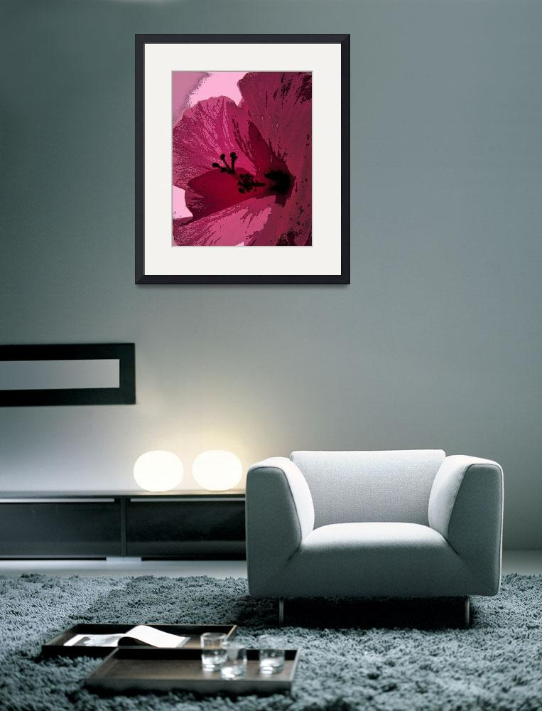 """Hibiscus in Abstract&quot  (2008) by Debrene"