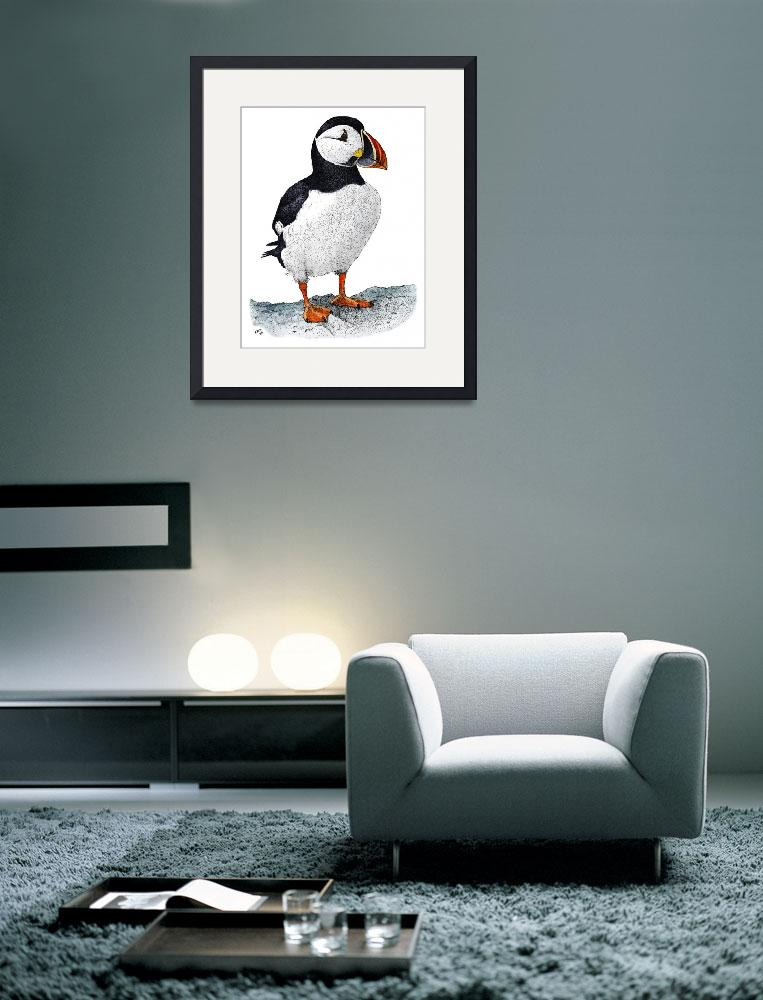 """Atlantic Puffin&quot  by inkart"