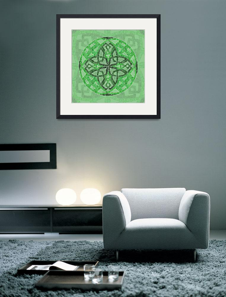 """Celtic Clover Mandala&quot  by foxvox"