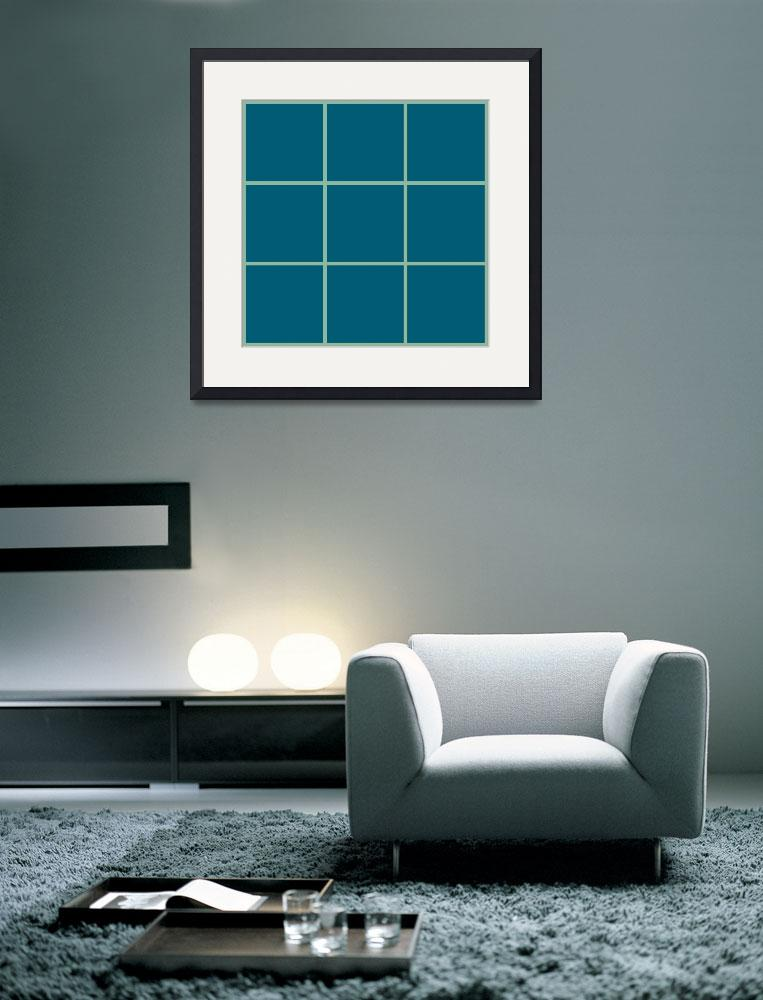"""Blue Window 140 Canvas Contemporary Modern&quot  (2010) by Ricardos"