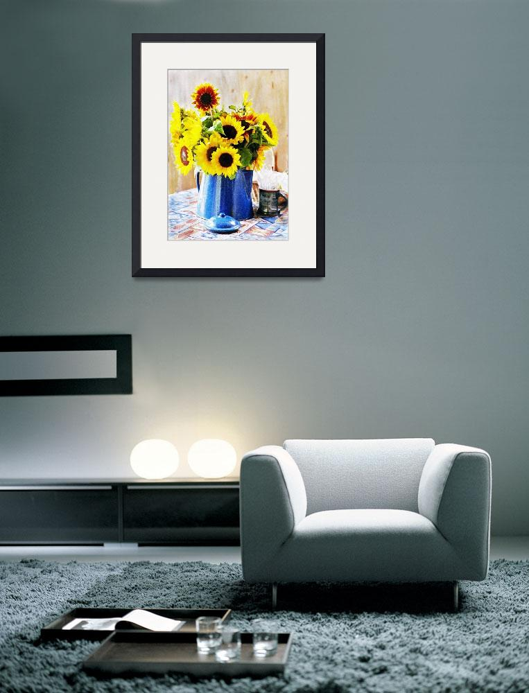 """My Birthday Sunflowers&quot  (2009) by Sonja"