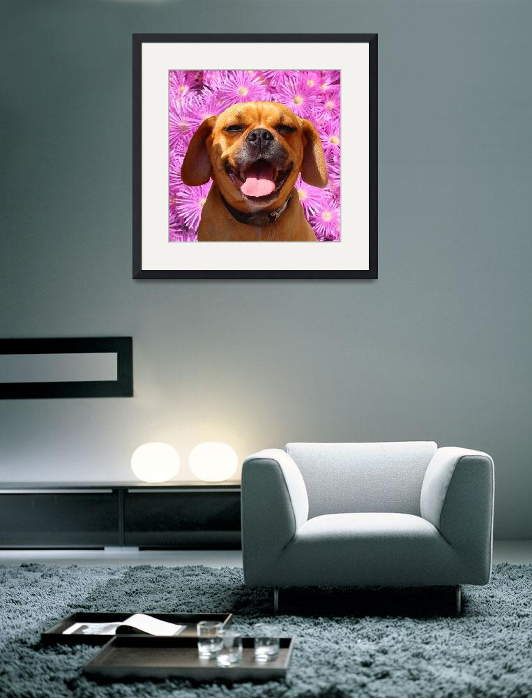 """Smiling Puggle&quot  (2009) by AmyVangsgard"